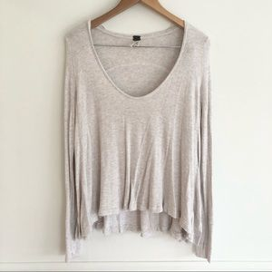 We The Free Long Sleeve Waffle Knit Top Size Small